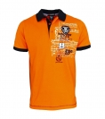 Geographical Norway Herren Polo Poloshirt Kubmarin SS JMS 100 orange