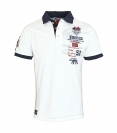 Geographical Norway Herren Polo Poloshirt KARITE Men 100 JMS, weiss SM451H/GN