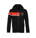 Jack & Jones Jacke Trainingsjacke Sweater schwarz Jcomove Sweat Hood Zip