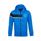 Jack & Jones Jacke Trainingsjacke Sweater blau Jcomove Sweat Hood Zip