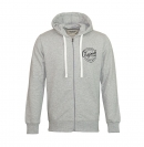 Jack & Jones Jacke jjorLen Sweat Zip Cardigan Light Grey Mela grau mit Kapuze JJ16