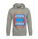 Jack & Jones Pullover JJCoadvance Sweat Hood Light Grey Mela grau mit Kapuze JJ16