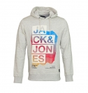 Jack & Jones Pullover JJCoadvance Swat Hood Treated White mit Kaupue JJ16