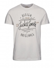 Jack & Jones Shirts T-Shirts 12117444 Jortype rundhals cloud dancer HW16