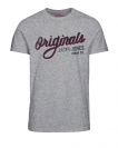 Jack & Jones Shirts T-Shirts 12117444 Jortype rundhals light grau melange HW16
