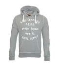Poolman Sweatshirt Sweater m. Kapuze Ovalprint grau P1305401 Grey Mel HW16SP