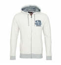 Petrol Industries Sweater Sweatjacke Hoodie weiss MSPFW16 SWH850 009 HW16-2 mit Kapuze