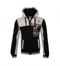 Geographical Norway Sweater Sweatjacke Geecker schwarz grau HW16-GN