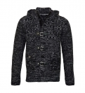 Pablo Malone by Poolman Strickjacke Jacke Black Grey Melange JH1604 327 9468 HW16PD