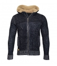 Poolman Strickjacke Jacke m. Kapuze Hooded P1604317 Navy HW16PD