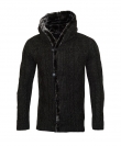 Poolman Strickjacke Jacke m. Kapuze Hooded schwarz P1604339 Black HW16PD