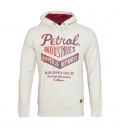 Petrol Industries Sweater Pullover Hoodie weiss MFW SWH351 009 HW16-4sp mit Kapuze