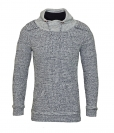 Pablo Malone by Poolman Strickpullover Pullover Grey Melange Pullover JH 1604 304 WF17-PM
