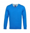 Tom Tailor Pullover Sweater Strickpullover V-Ausschnitt swimming pool blue 3021321 0910 6755 WF17-J1