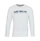 Tom Tailor Longsleeve Shirt Logoprint weiß white 1038210 0010 2000 WF17-J1
