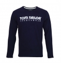 Tom Tailor Longsleeve Shirt Logoprint knitted navy 1038210 0010 6800 WF17-J1