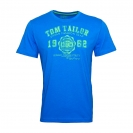 Tom Tailor T-Shirt Tee Shirt electric teal blue 1023549 0910 6850 WF17-JT2