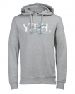 Jack & Jones Hoodie Sweater Pullover JORSPACED SWEAT HOOD light grey melange 12116946 WF16-JJ1