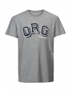 Jack & Jones Shirt T-Shirt JORMASKED Rundhals Light Grey Melange 12116880 WF17-TJJ1