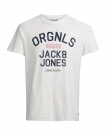 Jack & Jones Shirt T-Shirt JORMASKED Rundhals ORGNLS Cloud Dancer 12116880 WF17-TJJ1