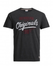 Jack & Jones Shirt T-Shirt JORREAL Rundhals Dark Grey Melange 12118714 WF17-TJJ1