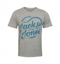 Jack & Jones Shirt T-Shirt Rundhals Jortraffic Light Grey Melange 12123035 WF17-TJJ1