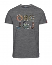 Jack & Jones Shirt T-Shirt Rundhals JORTOWERS Dark Grey Melange 12118733 WF17-TJJ1