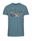 Jack & Jones Shirt T-Shirt Rundhals JORTOWERS Stone Blue 12118733 WF17-TJJ1