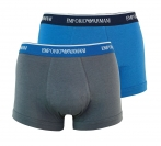 Emporio Armani 2er Pack Trunk Shorts ANTRACITE/LAPIS 111210 7P717 17644  WF17-EAT1