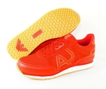 Armani Jeans Schnürschuhe SNEAKER LOW CUT 935028 7P424 06075 Red rot S17-AJS1