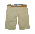 Tom Tailor kurze Hose Short Chino Bermuda with Belt 6404783 0910 8229 beige S17-TTS1