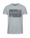 Jack & Jones JORTRAFFIC TEE SS CN APRIL 12128300 Mirage Gray S17-JJTZ1
