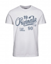 Jack & Jones JORTRAFFIC TEE SS CN APRIL 12128300 White S17-JJTZ1
