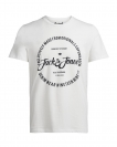 Jack & Jones T-Shirt JORNEW RAFFA black 12118764 Cloud Dancer S17-JJTZ1