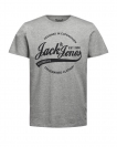 Jack & Jones T-Shirt JORNYRAFFA 12125077 Light Grey Melange S17-JJTZ1