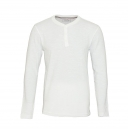Tom Tailor Shirt Longsleeve Henley 1055212 0012 2132 weiss S17-TTLS1