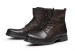 Jack & Jones Schuhe Lederschuhe JFWORCA LEATHER BROWN STONE SH17-JJS1