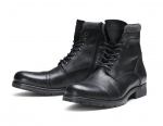 Jack & Jones Schuhe Lederschuhe JFWMARLY LEATHER BLACK SH17-JJS1