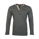 Tom Tailor Henley Striped Longsleeve 1038229 0910 2983 grau HW17-TTLS1