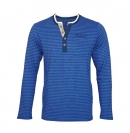 Tom Tailor Henley Striped Longsleeve 1038229 0910 6845 blau HW17-TTLS1