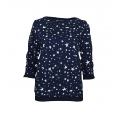 Tom Tailor Damen Star Sweat Gathered Sleeve 2531326 0971 6593 navy HW17-TTDP