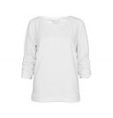 Tom Tailor Damen Struct Sweat Gathered Sleeve 2531325 0971 8005 weiss HW17-TTDP