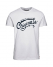Jack & Jones T-Shirt JORNEWRAFFA TEE 12135576 Cloud Dancer W18-JJT1