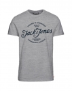 Jack & Jones T-Shirt JORNEWRAFFA TEE 12135576 Light Grey Melange W18-JJT1