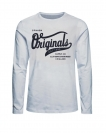 Jack & Jones Longsleeve JORHILLS TEE 12136204 Cloud Dancer W18-JJL1