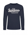 Jack & Jones Longsleeve JORHILLS TEE 12136204 Total Eclipse W18-JJL1