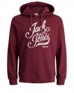 Jack & Jones Sweater JORBLOGGER SWEAT HOOD 12130083 Cordovan W18-JJS1