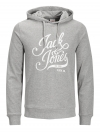 Jack & Jones Sweater JORBLOGGER SWEAT HOOD 12130083 Light Grey Melange W18-JJS1