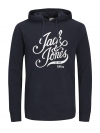 Jack & Jones Sweater JORBLOGGER SWEAT HOOD 12130083 Total Eclipse W18-JJS1