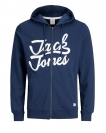 Jack & Jones Sweatjacke JORNEWCARRY SWEAT ZIP HOOD 12131822 Estate Blue W18-JJS1